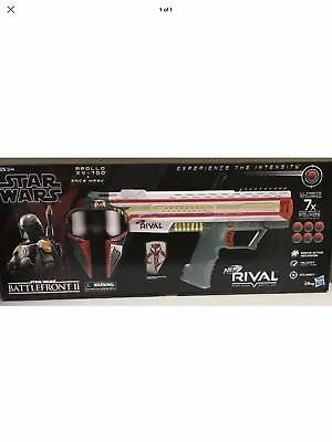 Star Wars BOBA FETT NERF RIVAL BATTLEFRONT II Apollo XV-700 & Face Mask Hasbro