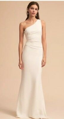 1a7aea79800 ANTHROPOLOGIE BHLDN KATIE May Gwyneth Dress Gown in Ivory Size 12 ...