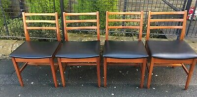 Amazing 4 Mid Century 60S Dining Chairs Afh Possibly Danish Design Lamtechconsult Wood Chair Design Ideas Lamtechconsultcom