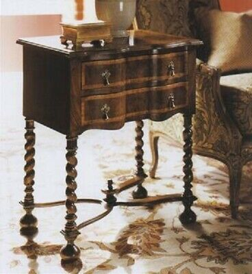 Fantastic Antique Reproduction William and Mary Style Walnut Lowboy Side Table