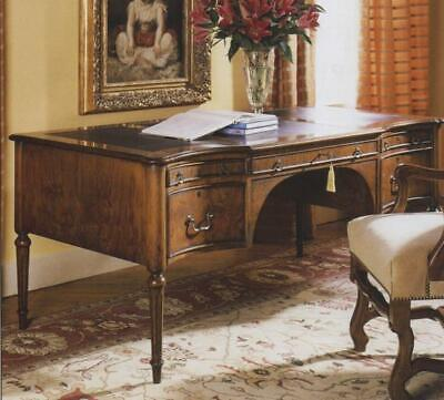 Amazing Reproduction Walnut Serpentine Front Writing Desk H76 x W168 x D86cm