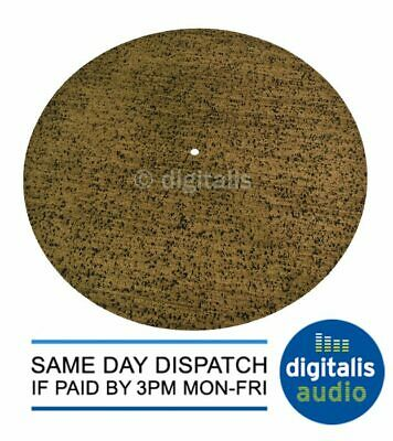 3mm Thick Cork With Rubber Matrix Turntable Platter Mat Audiophile Quality 295mm