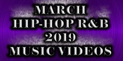 Hip Hop R&B Music Videos March 2019 (3 DVD's) 75 Music Videos