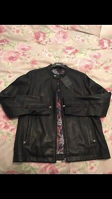 dcabeeff4ff60 MENS TED BAKER Leather Jacket Size 5 - £100.00