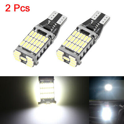 2pcs T15 W16W 4014 SMD 45 LEDs White Car Reading Dome Map Light Bulbs 921 Canbus