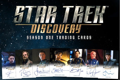 Star Trek Discovery Season 1 Limited + Common autograph set (29 cards) - presell