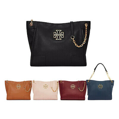 724ddb7d054 TORY BURCH BRITTEN SMALL SLOUCHY TOTE 39057 Women s Bag Free Tracking  No.Gift