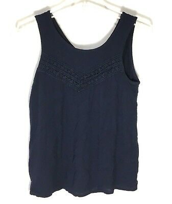 6c2ecffc97f Abercrombie And Fitch Kids Girls Size 15 16 Navy Blue Sleeveless Peasant Top