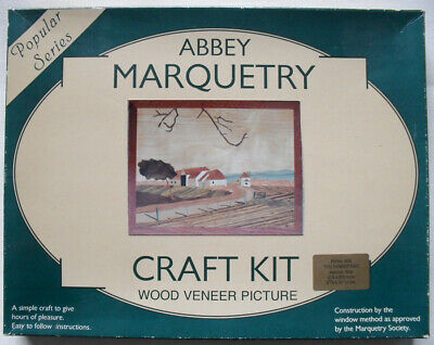 Marquetry Craft Kit. The Homestead. Wood Veneer Picture. Abbey Marquetry.