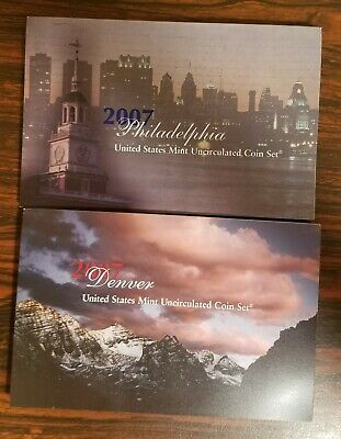 2007 Us Mint 28 Coin Annual Set P&d Unc In Original Mint Sealed Box - U07