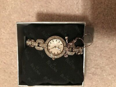 Bulova Women's  Silver  Tone Crystal-Accented Watch