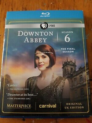Masterpiece: Downton Abbey - Season 6 (Blu-ray, 3-Disc Set) + Slipcover