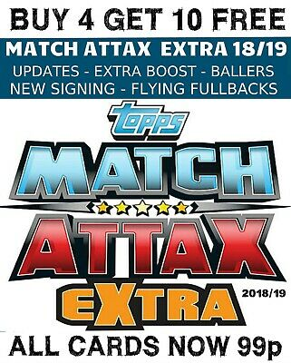 Match Attax Extra 2018/19 Update - Extra Boost - New Signing - Buy 2 Get 10 Free