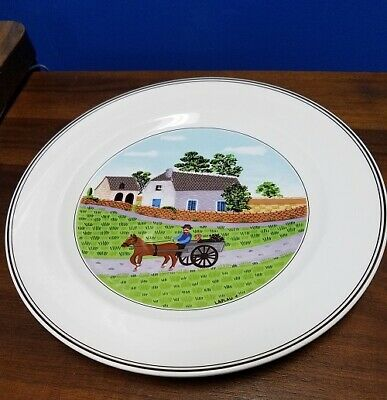 """VILLEROY & BOCH china Design Naif #1 Going to Market Dinner Plate - 10-1/2"""""""