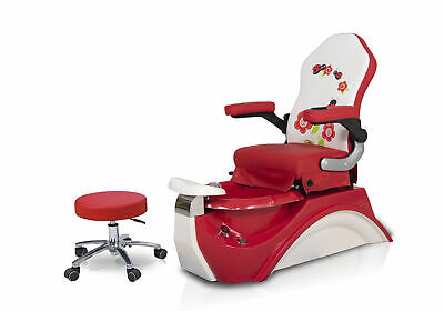 a8875414f RED HELLO KITTY Kid Pedicure Chair Nail Salon Massage Chair Child Mini Spa