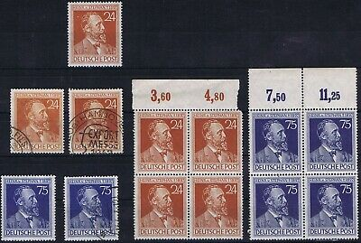 Germany Allied Occ. General Issues 1947 Mi 963-964 Heinrich von Stephan used/MNH