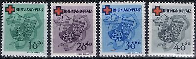 Germany Allied Occ. (French Zone/Rheinland) 1949 Mi 42-45 Red Cross MNH