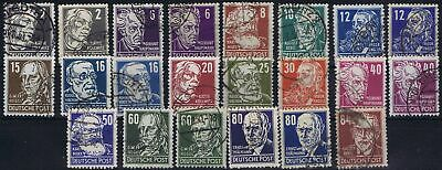 Germany Allied Occ. Soviet Zone 1948 Mi 212-227 Personalities used