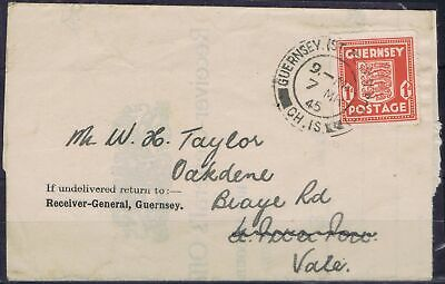 Germany 3rd Reich Guernsey 1941-1944 Mi 2 1d definitive on cover