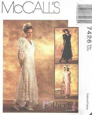2002 Alicyn Exclusives Wedding Dress Veil Choice 6-22 Pattern McCall/'s 3502 OOP