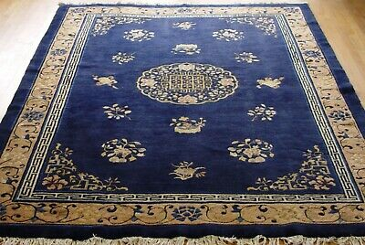 """ANTIQUE PEKING CHINESE 1910's HAND KNOTTED WOOL ORIENTAL RUG  6'1"""" x 8'7"""""""