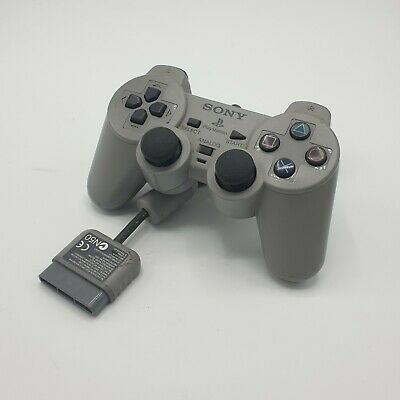 OFFICIAL SONY PLAYSTATION ONE PS1 DUAL SHOCK CONTROLLER (Grey) SCPH-1200