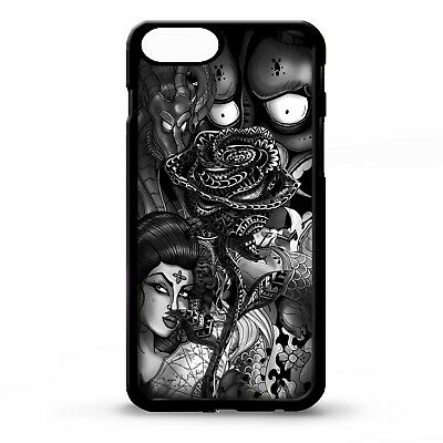 Black rose flower tattoo sleeve ink pattern floral graphic art phone case cover