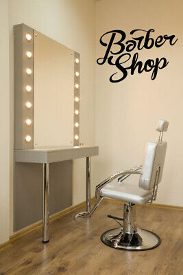 Vinyl Sticker Barber Shop Business Sign Logo Mural Decal Wall Art Decor ZX548