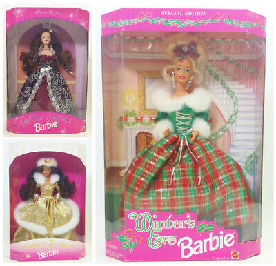 Winter Fantasy Winter's Eve Special Edition Barbie Dolls Lot Of 3 NRFB