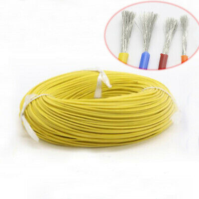 8~30AWG Yellow HIGH TEMP Silicone Cable Super Flexible Wire Tin Copper-US 0.08mm