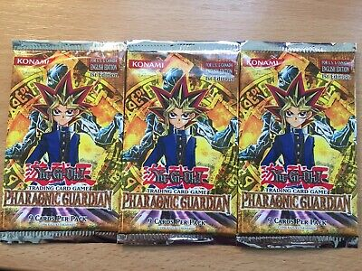 Yugioh Pharaonic Guardian 1st Edition Booster Packs - Sealed X3 - 2003