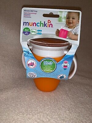 Munchkin Miracle 360 degree Baby/Child/Kids Trainer Cup with Handles Orange