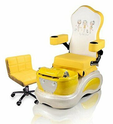 8c5d1c8eb Best Friends Kids Pedicure Spa YELLOW Pedicure Chair W/ Pedi Stool