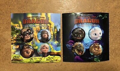 2019 How To Train Your Dragon The Hidden World Promo Button Pin Sets