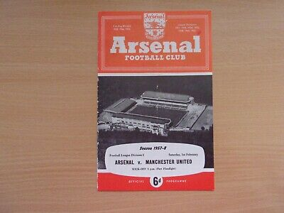 Arsenal Vs. Manchester United. Last Game Before The Munich Air Disaster 1957.