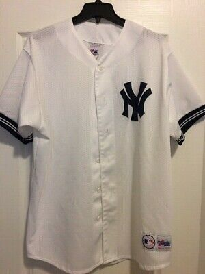 newest 585bd b93b6 NEW YORK YANKEES Jersey Vintage 90s Majestic White NY Yankees Rare Mens XL
