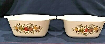 Vintage Set 2 Corning Ware Casserole P-41-B Spice of Life 1 3/4 cup Individual