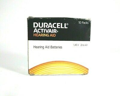 NEW 60 x Duracell Activair 312 Size Hearing aid batteries Zinc air 10 Packs of 6