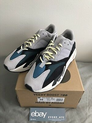 another chance 324a0 96b56 ADIDAS YEEZY BOOST 700 Wave Runner Mens size 10 US B75571 Authentic Receipt  500