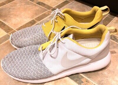 newest 3df26 ec744 Nike Roshe Run Premium Base Gray Quilt Citron Size 12 525234-008