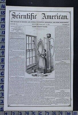 1855 Window Washer Tool Patent Cleaning Home Decor Maid Illus Cover Cov512