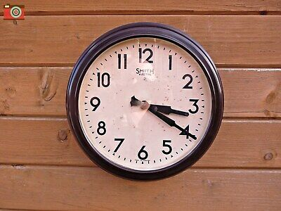 A Large Vintage Early Smiths Electric Wall Clock, Restored & Updated. Lovely