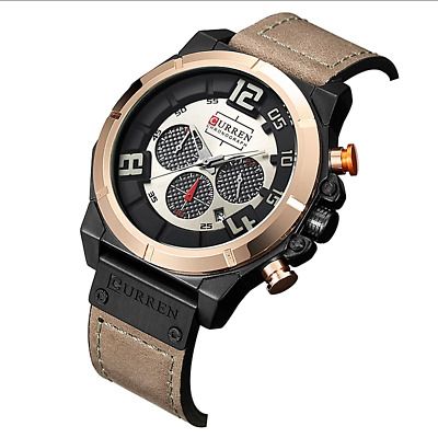 Curren Mens Watch Top Brand Luxury Chronograph Quartz watch 24 Hour Date