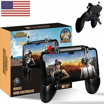 W11 PUBG Mobile Phone Game Shooter Controller GamePad Joystick Fire Trigger USA