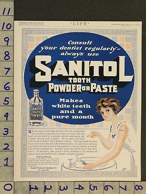 1912 Dental Toothpaste Sanitol Powder Chemical Lab St Louis Medical Ad Zw85