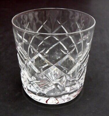 WATERFORD crystal WAT7 CRISS CROSS & VERTICAL CUT Old Fashioned Glass 3-3/8""