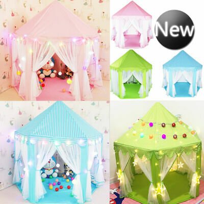 Girls Princess Castle Fairy Playhouse Play Tent Children Kids Outdoor Toys Gift