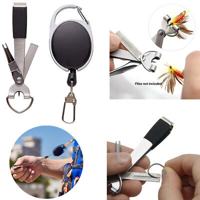 2X Updated Quick Knot Tool 4 in 1 Fly Fishing Clippers Line Nipper Tying +Zinger
