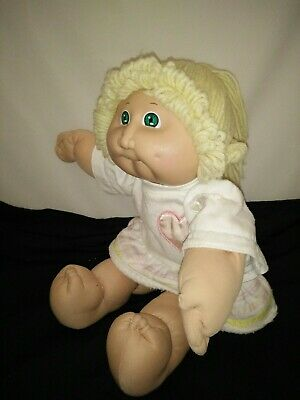 "Vintage 1985 Cabbage Patch Kid Doll 41cm/16"" COLECO Doll Yellow Wool Hair CPK"