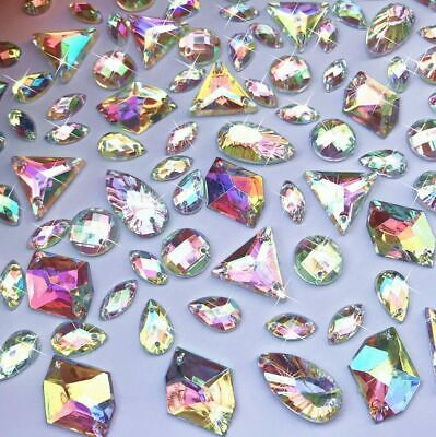 AB clear Rhinestone Gem mix lot assorted Jewel crystals Flatback Faceted diamond
